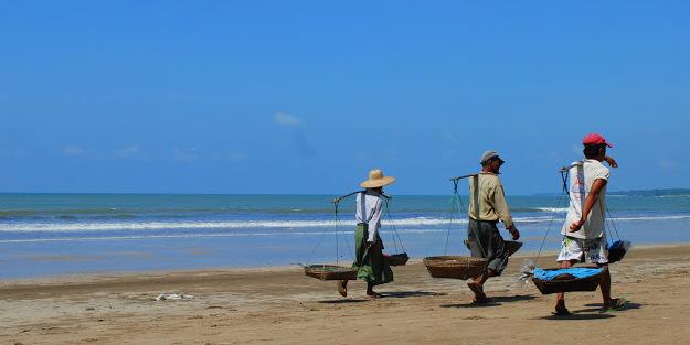 Na plaży w Birmie