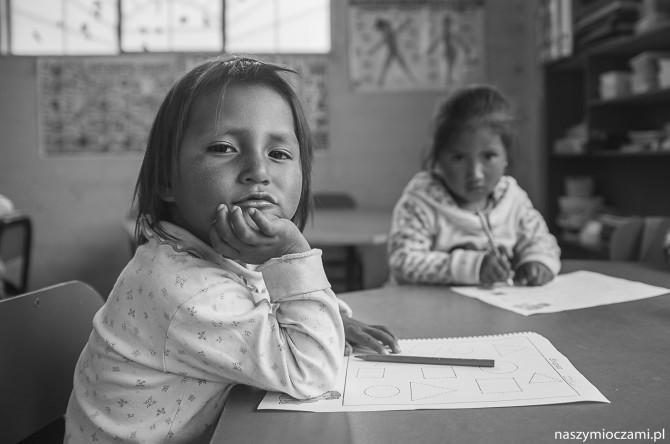 W szkole  – fotoreportaż z Peru